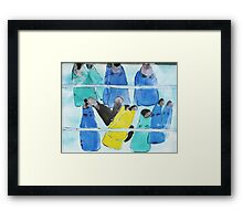 Flippers Framed Print