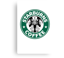 Starburns Coffee Canvas Print
