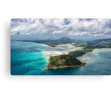 Helicoptering Over Hill Inlet Canvas Print