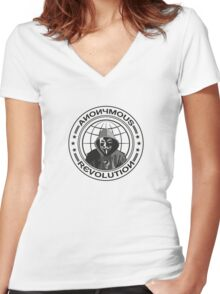 Anonymous Revolution Women's Fitted V-Neck T-Shirt