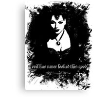 Evil has never looked this good. Canvas Print