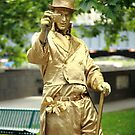 gold man. southbank, melbourne by tim buckley | bodhiimages