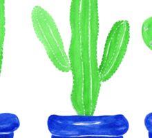 Cacti Trio - White Sticker