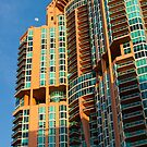 Tall Shot Moon Portofino Tower South Beach Florida by Henry Plumley