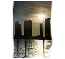 Miami Buildings at Sunset Poster