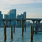 Old Docks Biscayne Bay Miami Florida by Henry Plumley
