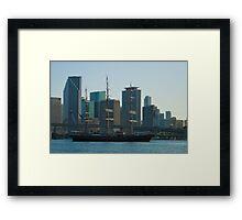 Tall Ship Biscayne Bay Miami Florida Framed Print