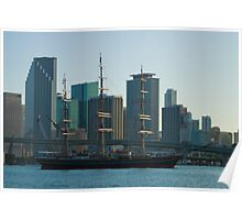 Tall Ship Biscayne Bay Miami Florida Poster