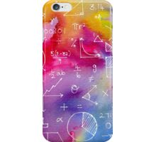 Math formulae (watercolor background) iPhone Case/Skin