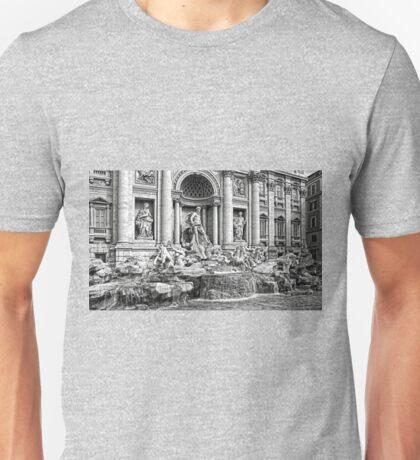 Trevi Fountain B&W Unisex T-Shirt