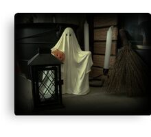 Fireplace Ghost Canvas Print
