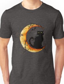 The cat and the moon. Unisex T-Shirt