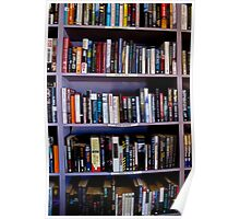 purple book shelves Poster