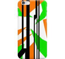 Cross-Camo - Orange&Green iPhone Case/Skin