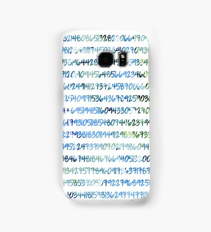 Digits of Pi (Green & Blue) Samsung Galaxy Case/Skin