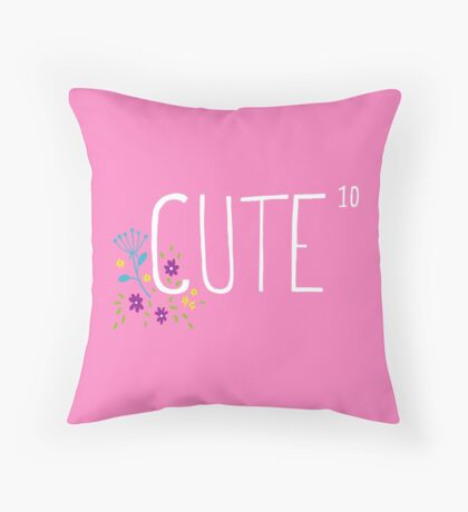 Cute to the power of 10 Throw Pillow
