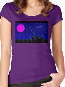 Mystery Science Timey-Wimey Women's Fitted Scoop T-Shirt