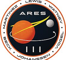 ARES 3 Mission Patch (Clean) - The Martian by BlazeSeven