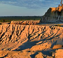 Lake Mungo Pinnacles, early morning by Geoffrey Higges
