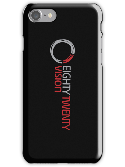 8020 iPhone Case (Black) by 8020Vision