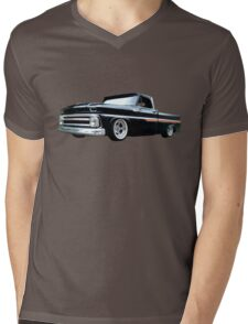 65 Chevy C-10 Stopping at Roy's on Route 66 Mens V-Neck T-Shirt