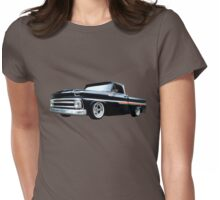 65 Chevy C-10 Stopping at Roy's on Route 66 Womens Fitted T-Shirt