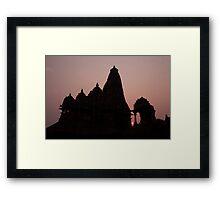 Khajuraho Sunset Framed Print