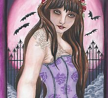 Moon Maiden I - Gothic fantasy art by FaerieMajikk