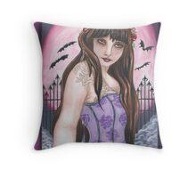 Moon Maiden I - Gothic fantasy art Throw Pillow