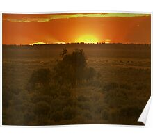Lake Mungo, Australia - Sunset Poster