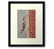 Urban Red Wall Vine Framed Print