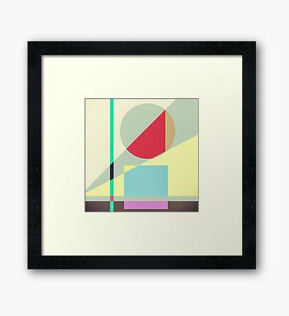 Modern Abstract Geometrical Print Framed Print