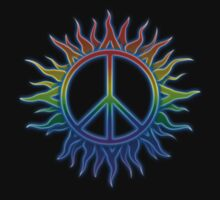 Peace Sign Sun by Leah McNeir