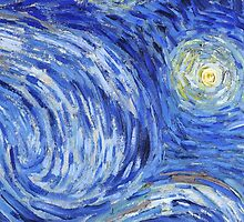Brushstrokes of Vincent Van Gogh - Starry Night by lifetree