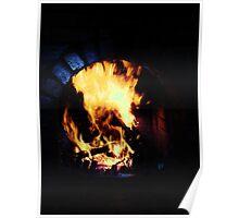 Dark Fireplace (Edited) Poster