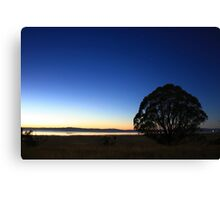 First Light over Lake George, NSW Canvas Print
