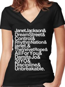 ALL ALBUMS. Women's Fitted V-Neck T-Shirt
