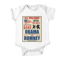 President Election 2012 Poster Obama vs. Romney One Piece - Short Sleeve