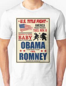 President Election 2012 Poster Obama vs. Romney T-Shirt