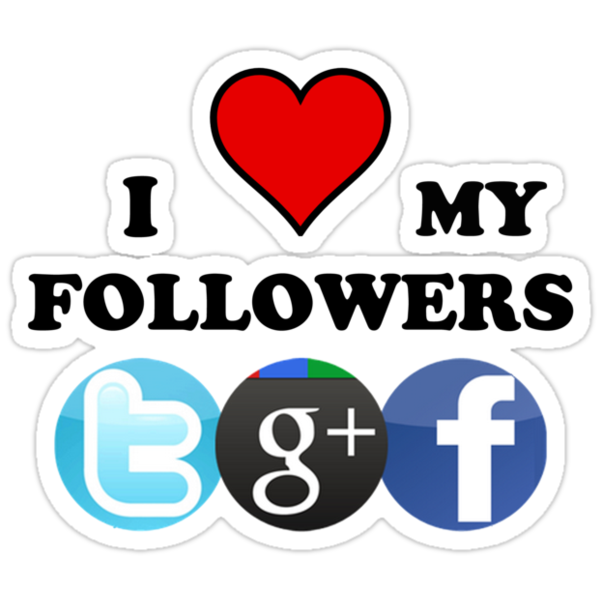 I Love My Followers ( T-Shirt & Sticker ) by PopCultFanatics