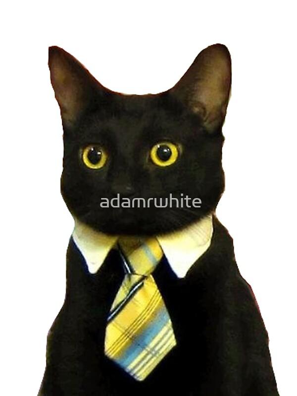 Quot Business Cat Quot Stickers By Adamrwhite Redbubble