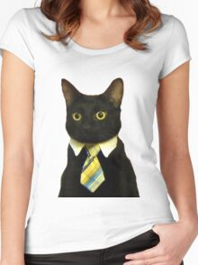 Business Cat Women's Fitted Scoop T-Shirt