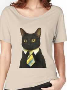 Business Cat Women's Relaxed Fit T-Shirt