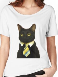 Business Cat Women's Relaxed Fit T-Shirt