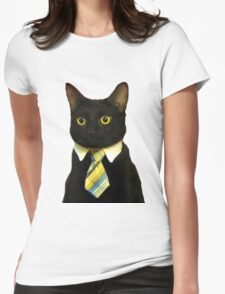 Business Cat Womens Fitted T-Shirt