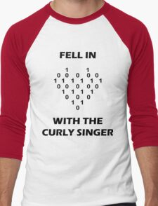 Fell In Love With The Curly Singer Men's Baseball ¾ T-Shirt