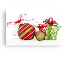 Christmas Ornaments Balls Gift Contemporary Canvas Print