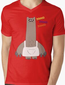 Rad on Time Schnitzel Mens V-Neck T-Shirt