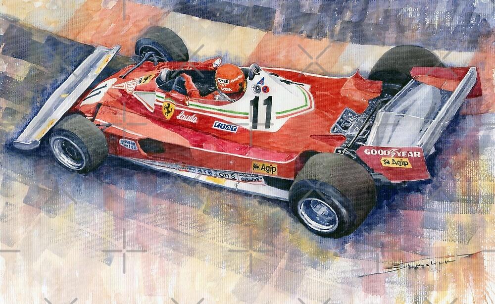 Ferrari 312 T2 Niki Lauda 1977 Monaco GP  by Yuriy Shevchuk