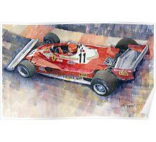 Ferrari 312 T2 Niki Lauda 1977 Monaco GP  Poster